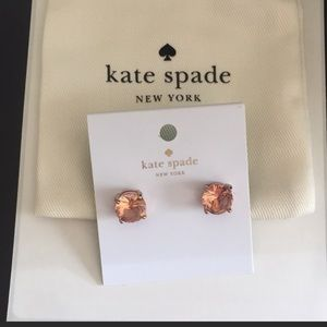 NWT Kate Spade gumdrop crystal stud earrings